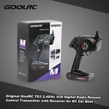 Original GoolRC TG3 2.4GHz 3CH Digital Radio Remote Control Transmitter with Receiver for RC Car Boat(China)