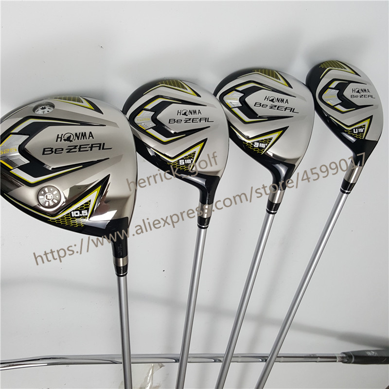 Image 3 - New 525 Golf Clubs HONMA BEZEAL 525 Complete Set HONMA Golf driver.wood.irons.putter Graphite Golf shaft plus bag Free shipping-in Golf Clubs from Sports & Entertainment