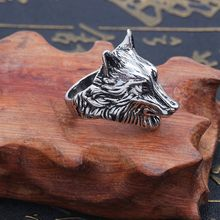 Humano Fino Fashion Bohemian Vintage Ring Personality Domineering Design Wolf Ring Man Wild Jewelry Gift 2019(China)