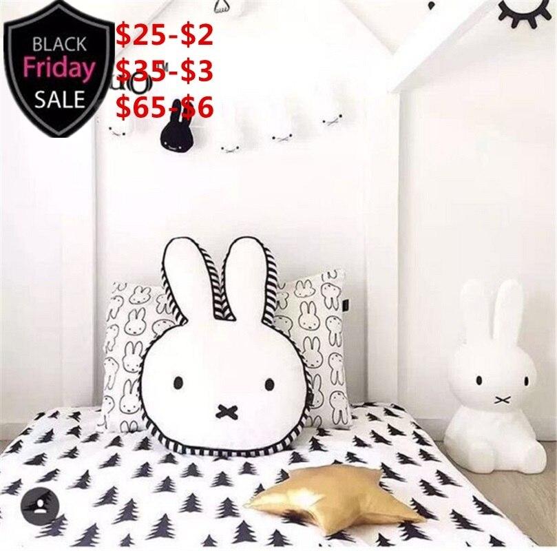 Nórdicos chico habitación decoración cojín de decoración de conejo ...
