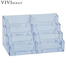 Vividcraft настольный офисный бизнес-держатель для карт, подставка, прозрачная акриловая прилавок, подставка, аксессуары для стола
