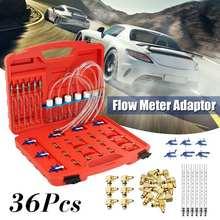 Autoleader 36 Pcs Iniettore Misuratore di Portata Adapter Kit per il Test Per Common Rail per il Carburante Diesel Tester Strumento di Diagnosi Set 38x28x8 cm