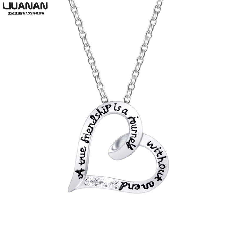 LIUANAN Charm Pendant Necklaces Sister Jewelry Gift for Sister Not Sisters by Blood but Sisters by Heart