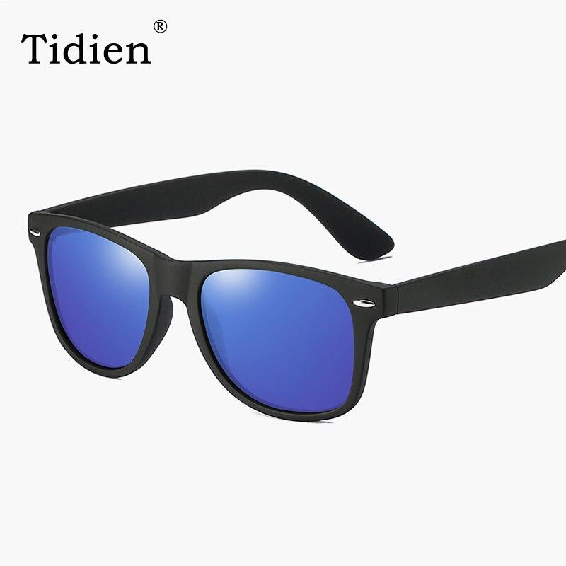 bb8850570d Tidien Vintage espejo cuadrado gafas de sol polarizadas hombres clásicos de  conducción de pesca gafas para