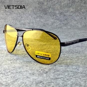 8093e73291 2019 polarizadas amarillo conducción gafas de sol en la noche de alta  calidad HD Visión día y noche gafas de sol polarizadas gafas de seguridad  UV400