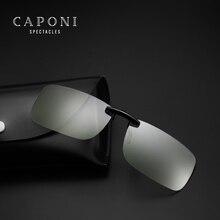 Caponi Square Photochromic anti blue-light Clip On Sunglasses Unisex Driving