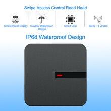 RFID Okuyucu 125 KHZ/13.56 MHZ anahtar kartı uzun menzilli Okuyucu Wiegand 26/34 IP68 Su Geçirmez Erişim Kontrolü RFID ID kart okuyucu