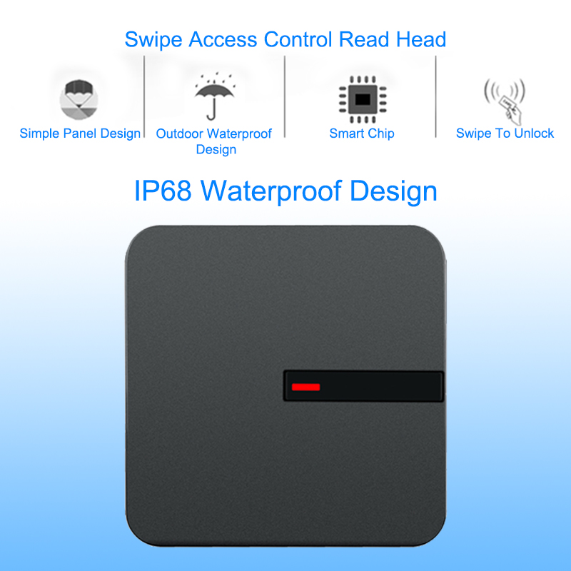 RFID Reader 125KHZ /13.56MHZ Proximity Card Long Range Reader Wiegand 26/34 IP68 Waterproof Access Control RFID ID Card Reader