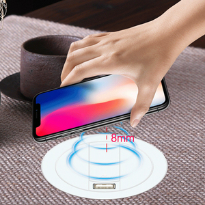 Image 4 - Embed Desktop Fast Wireless Charger Furniture Office Table Desk Mounted Quick Charging Embedded For IPhone X XS Max Samsung S9 8