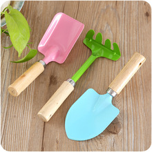 Aprince Mini Wooden Handle Small Shovel Scorpion Planting Potted Flower Shovel 3PCS Suit Home Gardening Tools