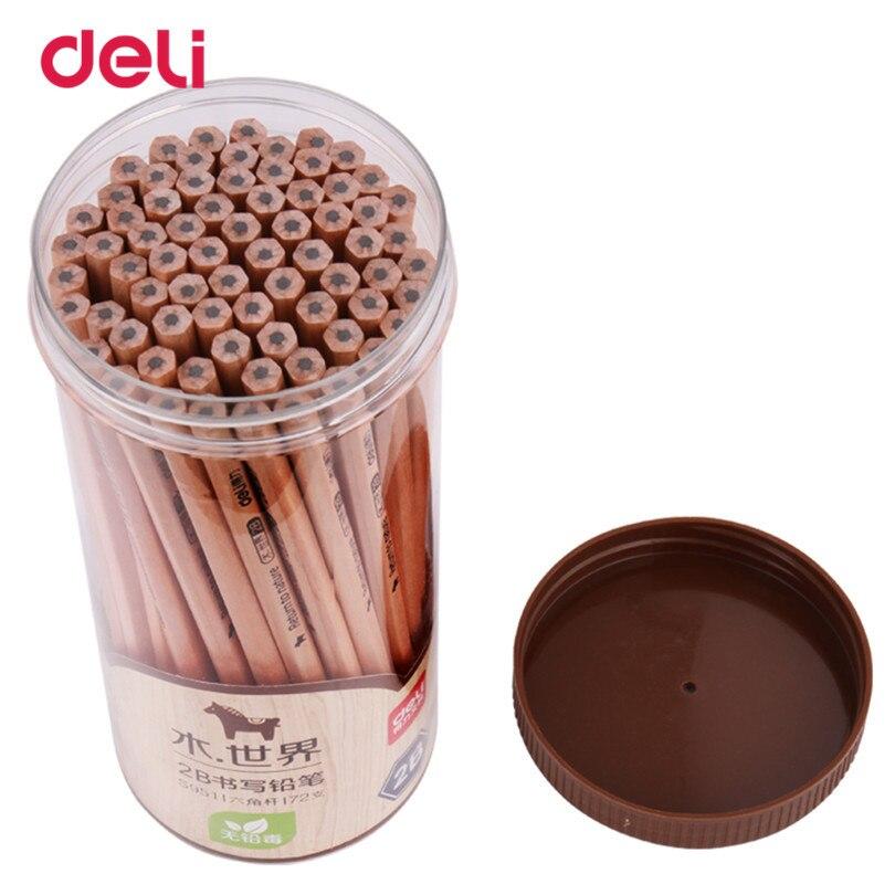 Deli Wholesale New Standard Pencils 2B Office & School Supplies Wood 72 Pcs/pack Sketch Simple Design 2018 pencil 40DS91