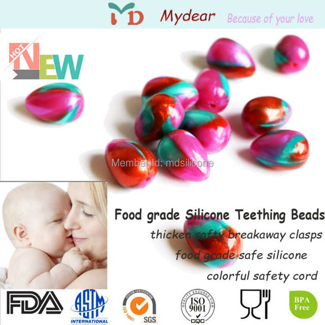 US $4 88 |Free Sample 10 unids Silicone Teething Mix Color Egg Beads For  Jewelry-in Baby Teethers from Mother & Kids on Aliexpress com | Alibaba  Group