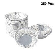 250 шт фольги чашки круглые одноразовые мини-кекс яйца брезент фольга для выпечки формы для выпечки инструмент для выпечки дома пекарня Вечерние