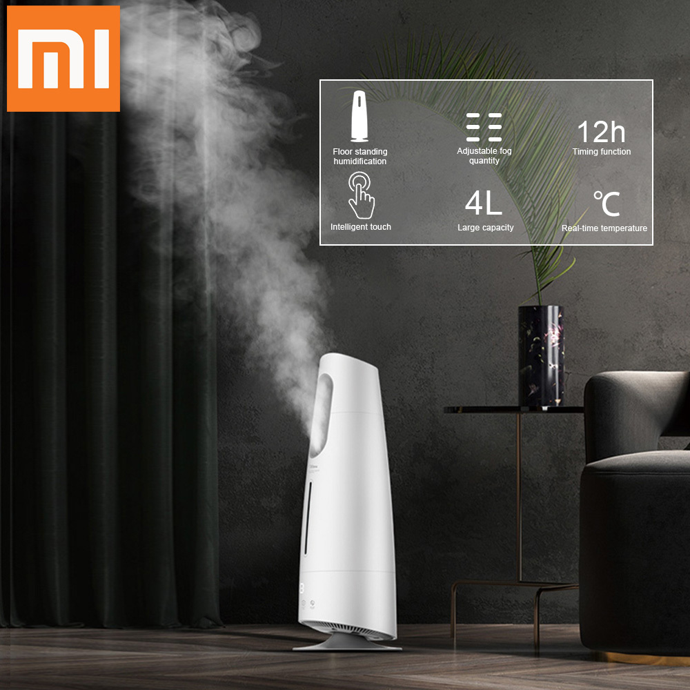 Xiaomi Home Deerma Air Humidifier Aroma Diffuser Mist Maker Touch Screen 4l Oil Diffuser Air Purifying