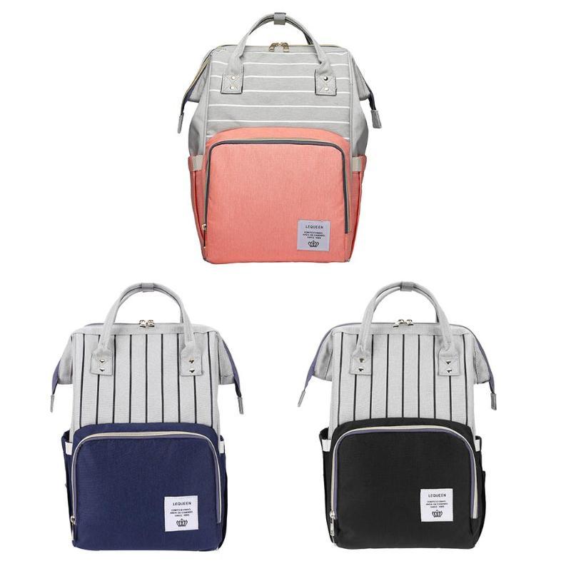 Image 2 - Lequeen сумка для кормящих мам, подгузник для мам, брендовая Большая вместительная детская сумка, рюкзак для путешествий, дизайнерская сумка для кормящих мам для ухода за ребенком