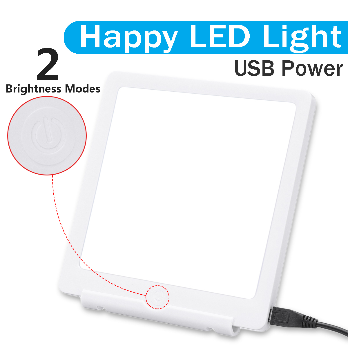 LED Lamp 5W SAD Phototherapy Light 10000 LUX Bionic-Daylight Affective Disorder USB Therapy Adjustable Relief Listless FatiguedLED Lamp 5W SAD Phototherapy Light 10000 LUX Bionic-Daylight Affective Disorder USB Therapy Adjustable Relief Listless Fatigued