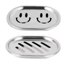 Double Layer Soap Dish w/ Large Draining Stainless Steel Soap Case Holder Container soap tray Bathroom Organizer Accessories Hot все цены