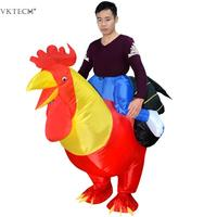 Inflatable Rooster Costumes Blowup Cosplay Holiday Inflatable Costume Mascot Party costume for Adult Kids Home Party Decration