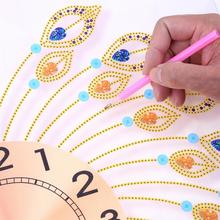 3D Special Shaped Diamond Peacock Opening Shape Wall Clock for DIY Diamond Painting Cross Stitch Diamond Mosaic Craft Decoration