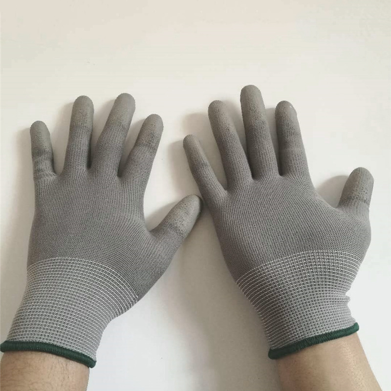 Working Gloves Anti Static Gloves Anti Static ESD Electronic PU Coated Palm Coated Finger PC Anti Skid For Finger Protection