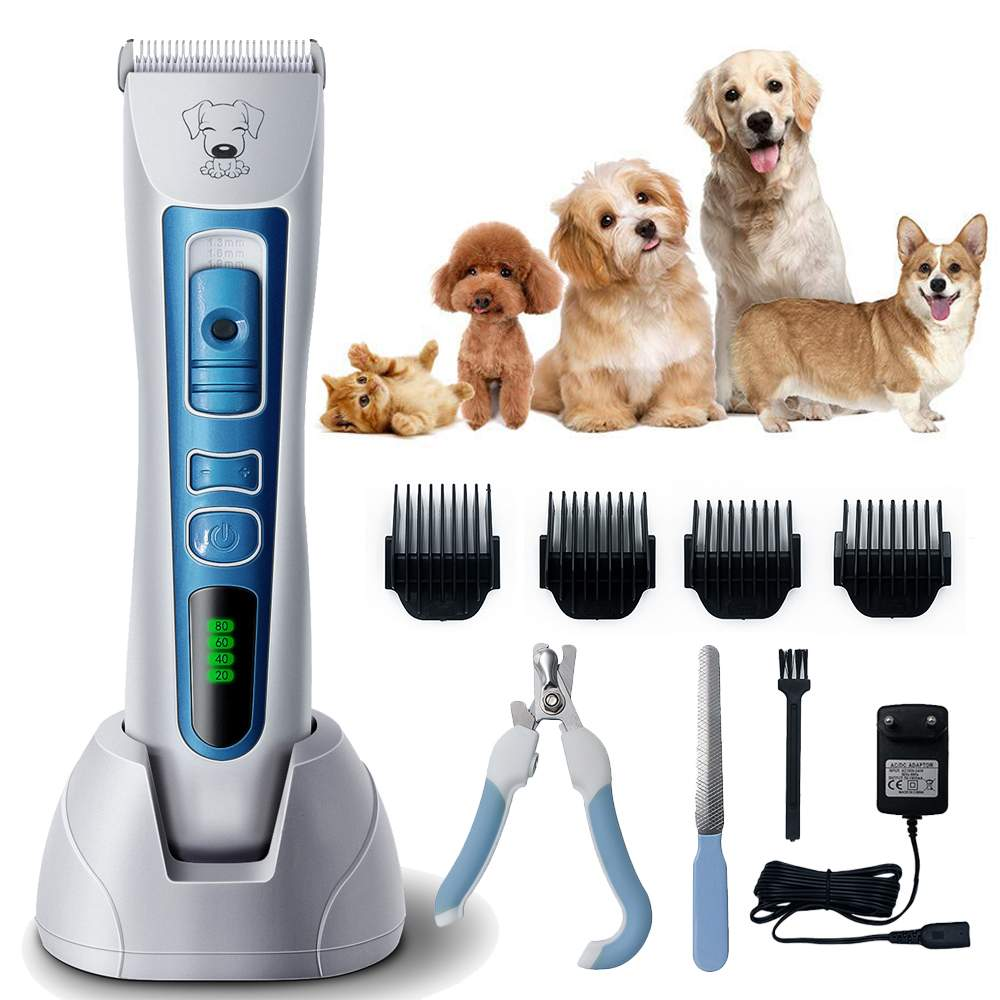 Electric Pet Dog Hair Trimmer Pet Dog Grooming Clippers, Animal Cordless Pet Hair Shaver,Grooming Trimmer Kit Machine Shaver