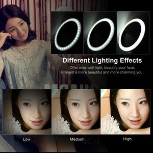 Image 3 - Andoer Selfie แบบพกพา Mini Clip on ไฟ LED 36 LED Selfie Ring Light สำหรับ iPhone X 8 7 Plus สำหรับ Samsung Huawei Ringlight