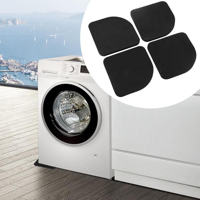4Pcs Square Refrigerator Mute Mat Washing Machine Anti Vibration Pad Shock Pads Household Washing Machine Accessories Tool