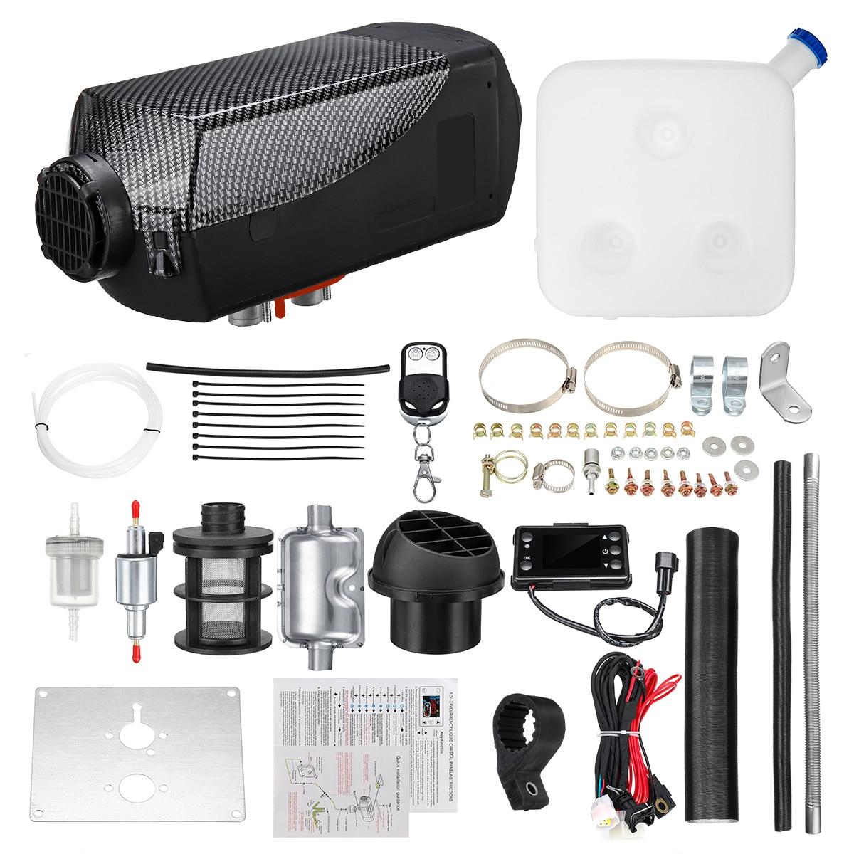 Diesel Riscaldatore Ad Aria 5KW 12 V Planare LCD Per I Camion Auto Barche A motore Case Ultime Kit Monitor per CAMPER camper Rimorchio Con Telecomando - 5