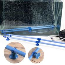 7-inch Fish Tank Aquarium Bubble Wall Air Stone Tube with Suction Cup (Blue)(China)