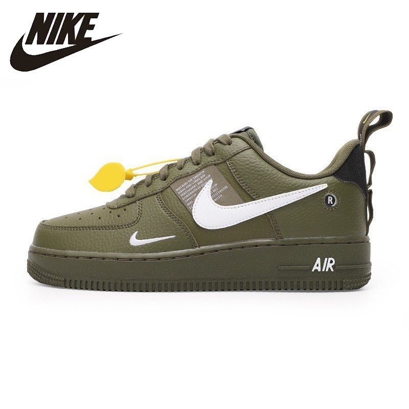 Nike Official Air Force 1 Breathable Men Skateboarding Shoes Low Cut Comfortable Sneakers New Arrival #AJ7747(China)