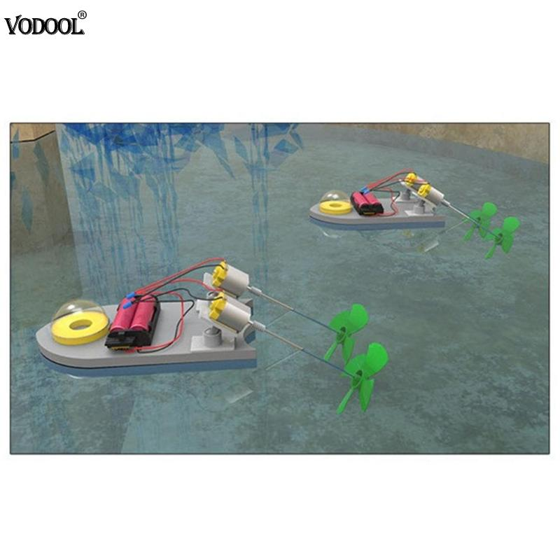 RC Speedboat Remote Control Boat DIY Mini Power Boat Yacht Assembly Model Kids Exercise Ability Educational Toys For Children