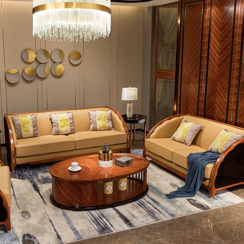 Us 45688 6 Modern 2019 Lounge Sofa Set Living Room Furniture Wooden Divano Designer Love Seat Modern Chinese China Chair Sofas Kanepe Table In