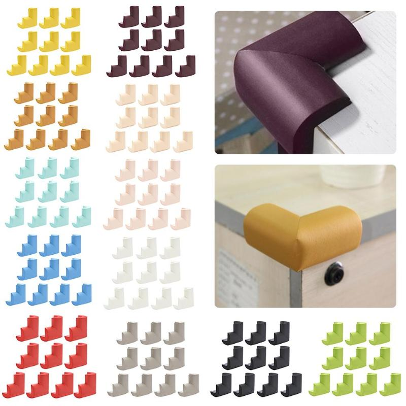 12pcs Baby Safety Product Baby Proofing Glass Desk Table Corner Guards Covers Child Rubber Desk Corners Protector Seguridad 2.5 Ornaments