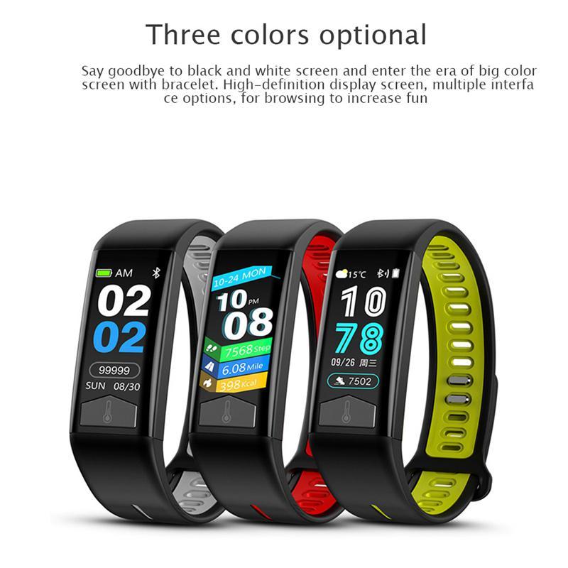 Bracelet intelligent une nouvelle génération surveillance de la santé IP68 étanche sport anneau corps mesure de la température Bracelet montre intelligente