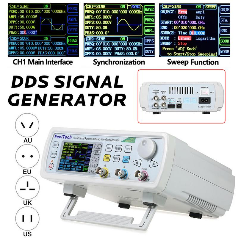 FY6600 60M FY6600 Series 60 Mhz Dual Channel Digital Control Frequency Meter Signal Generator Arbitrary DDS