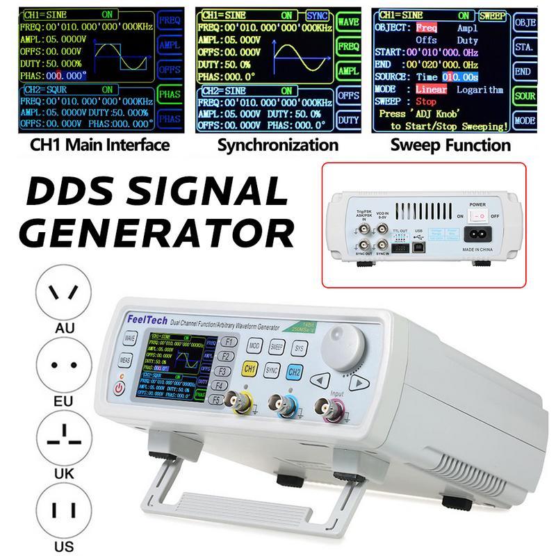 FY6600-60M FY6600 série 60 Mhz double canal contrôle numérique fréquence compteur générateur de Signal arbitraire fonction DDS