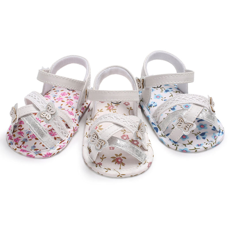 Wonbo Baby Shoes PU Leather First Walker Floral Soft Soled Anti-slip Newborn Baby Shoes 0-18 Months