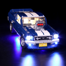 Vonado DIY LED Light For  Ford Mustang 10265 Building Block Updated Version Modified Brick Kit Popular Children Gift Toy worker dagger cover updated version modified kit kriss vector imitation kit special for nerf stryfe modify outdoor toy gun parts