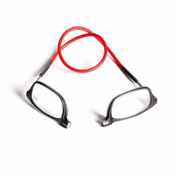 47cded11d9 Actualizado Unisex plegable gafas de lectura magnética de las mujeres de  los hombres ajustable cuello colgante