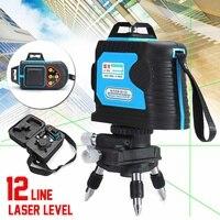 532nm 360 зеленый лазерный уровень 120X12 линий 3D точность самонивелирующийся пульт дистанционного управления ударопрочный длина волны перезаря