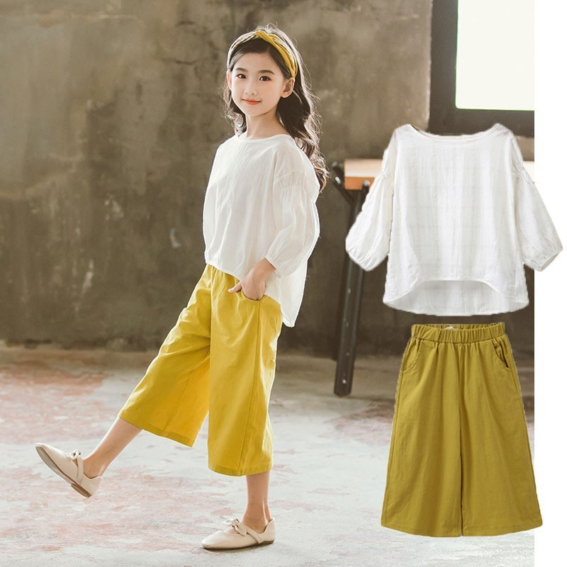Kids 2019 Fashion Boutique Girls Outfits Summer Spring Cotton Casual Children Clothing Set 2Pcs Shirts Tops And Pants Girl Set Kids 2019 Fashion Boutique Girls Outfits Summer Spring Cotton Casual Children Clothing Set 2Pcs Shirts Tops And Pants Girl Set