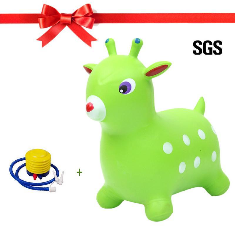 PVC gonflable anti-déflagrant gonflable extensible saut à bascule cheval mont enfants équilibre pratique voûte cheval équitation jouet - 2