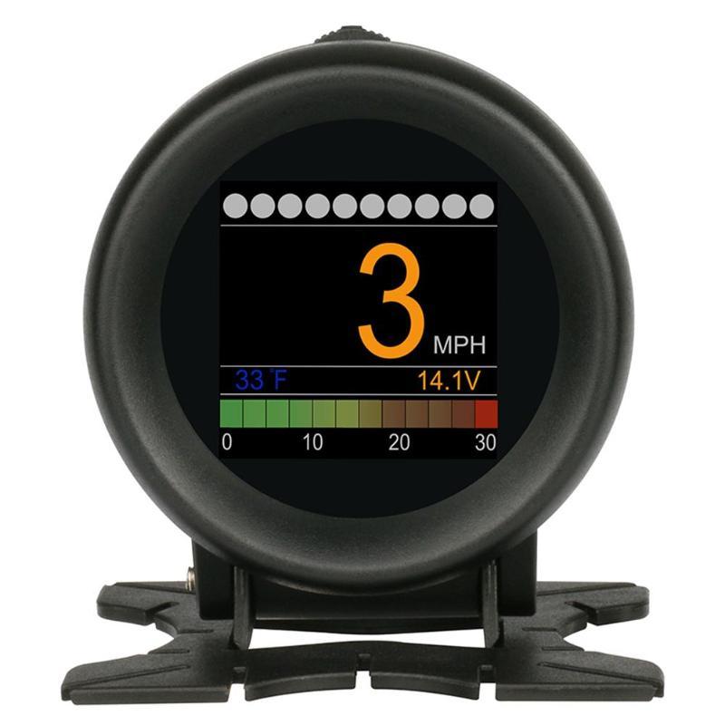 A10-18V 72 MHz DC UTOOL X60 OBD mètre OBD2 HUD numérique jauge de température de l'eau tension compteur de vitesse accessoires de voiture