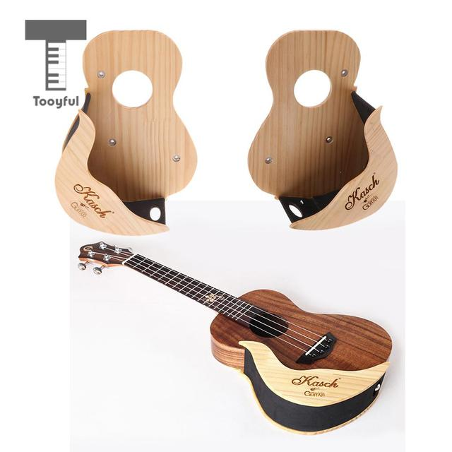Tooyful Universal Wood Ukulele 4 Strings Guitar Wall Mount