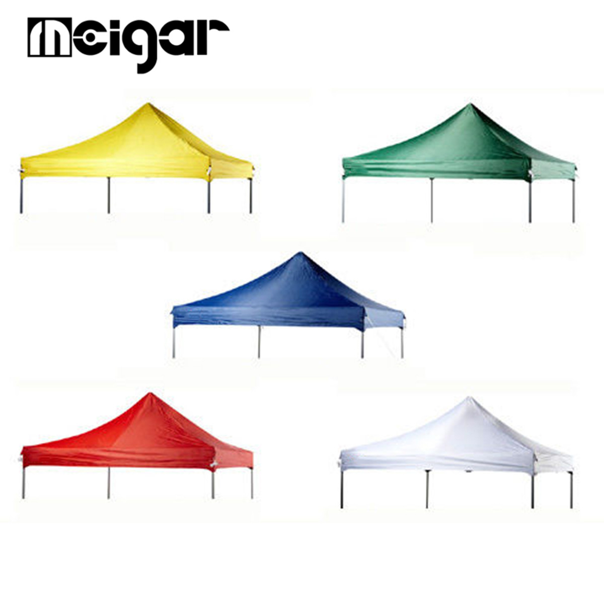 3X3m Tent Canopy Cover Top Roof Replacement Polyester Waterproof Sun Shade Cloth Cover Outdoor Garden Yard Shade Accessories