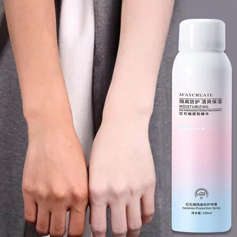 Red Pomegranate Primer Makeup Moisturizing Sunscreen Spray Repair UV Protection Whitening Isolation Cream