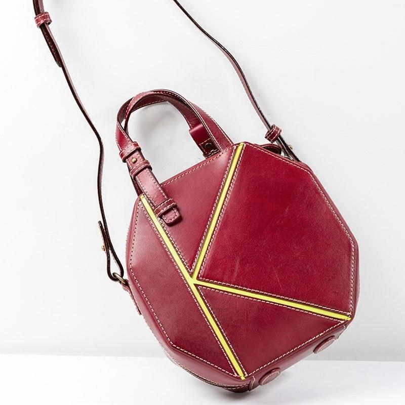 Portable petit sac carré en cuir véritable sac femmes couche supérieure peau de vache sac à main mode sac à bandoulière Design Original sac à la main