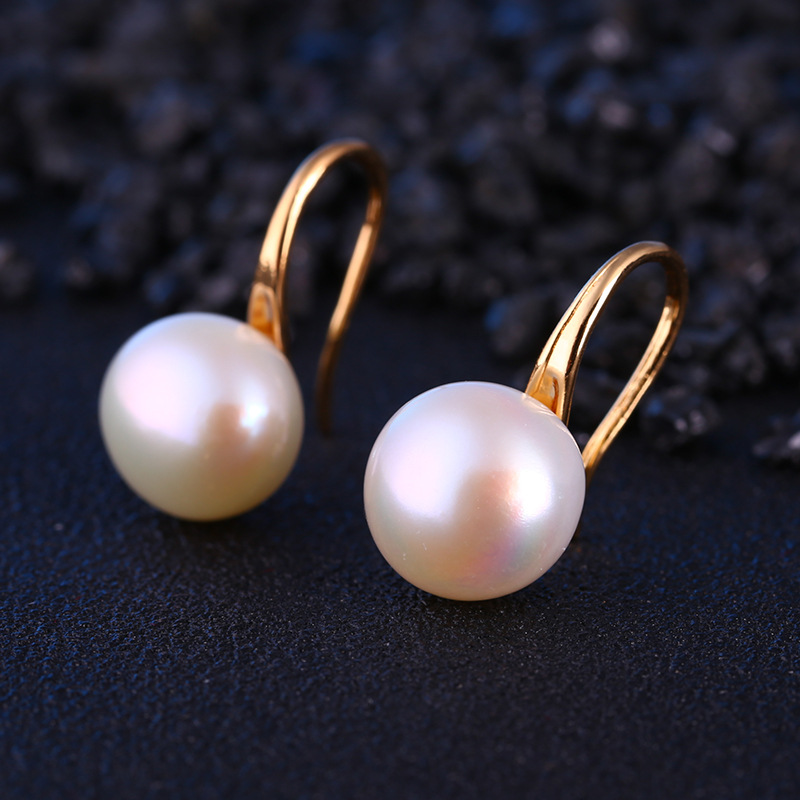 Pearl Women Hanging Earrings One Direction Trend Boucle D'oreille Femme Party Wedding Fashion Round Pearl Jewelry Wholesale