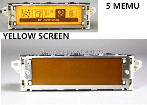 5 меню Желтый экран Поддержка USB Bluetooth Дисплей монитор 12 pin для peugeot 307 407 408 citroen C4 C5