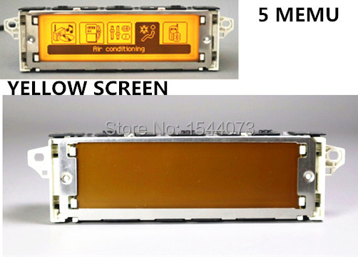 Tela de Menu 5 Amarelo apoio monitor USB Bluetooth ar-condicionado 12 pin para Peugeot 307 407 408 citroen c4 C5